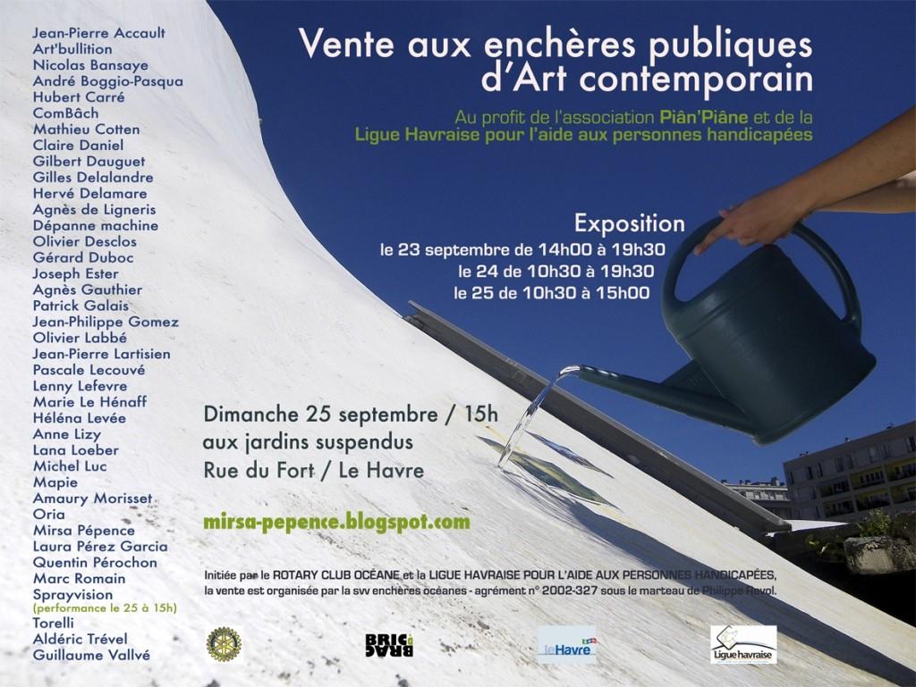 exposition vente d 39 art contemporain aux jardins suspendus du 23 au 25 septembre 2011 je vis. Black Bedroom Furniture Sets. Home Design Ideas